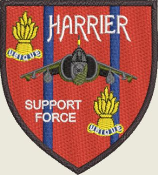 Harrier Support Force embroidered badge